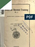 Notes on Bayonet Training 02