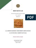 La Aterosclerosis Como Desencadenante de La Patologia Cardiovascular
