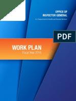 OIG 2016 Work Plan