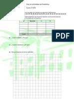 Actividades de Estadística (2º ESO)
