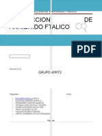 diseño basico de procesos Anhidrido Ftalico