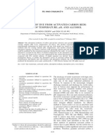 Desorption of Dye From Activated Carbon Beds