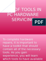 Use of Tools in Pc Hardware Servicing