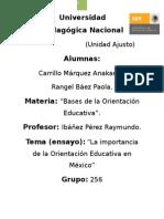 LA HISTORIA DE LA ORIENTACION EDUCATIVA EN MEXICO