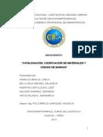 Catalogacion Codificacion de Materiales y Codigo de Barras Logistica