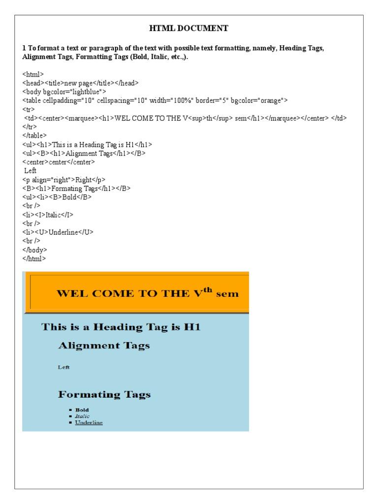 CSS HTM   Html Element   Hyperlink