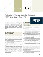 Appendix C2 Estimation of Hansen Solubility Parameters HSP From Binary Data PES 2014 Cleaning With Solvents