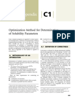 Appendix C1 Optimization Method for Determination of Solubility Parameters 2014 Cleaning With Solvents