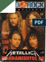 Hard Rock Internacional 10 Mandamientos de Metallica