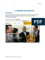 Subvention Mondiale Procedure de Demande