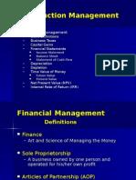 Construction Management PV, Depriciation Etc