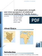 Measurement of Compressive Strength and Rebar Parameters of Rc Concrete in Nairobi