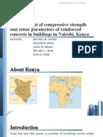 Measurement of Compressive Strength and Rebar Parameters of Rc Concrete in Nairobi