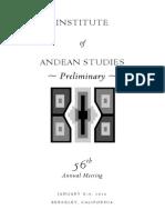 Encuentro de Estudios Andinos 2016