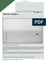 Eduardo Pellejero, Lo Que Vi (Fragmento Publicado en Josefina La Cantante)