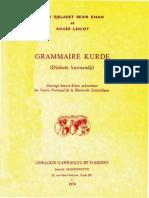 Grammaire Kurde Dialecte Kurmandji