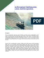 Reklamasi Dan Revegetasi Tambang Atau Mine Reclamation and Revegetation