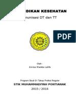 SAP Penkes Imunisasi DT Dan TT