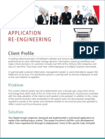 Application Re-engineering improved End User efficiency and IT efficiency