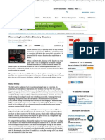 Recovering From Active Directory Disasters _ Active Directory Content From Windows IT Pro