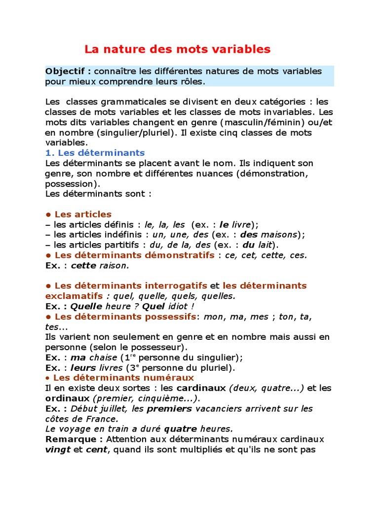 113120127 | Genre grammatical | Nombre grammatical
