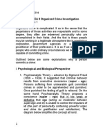 Theories on Criminal Behavior