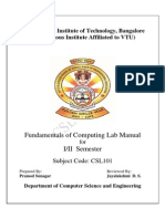 Csl101 Foc Lab Manual