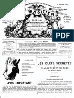 Le Magicien, journal des sciences occultes, physiologiques, philosophiques et magnétiques N°86
