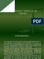 Patrimonio y Bancos de Tierra