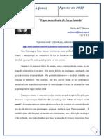 """""""O que me seduziu de Jorge Amado"""""""