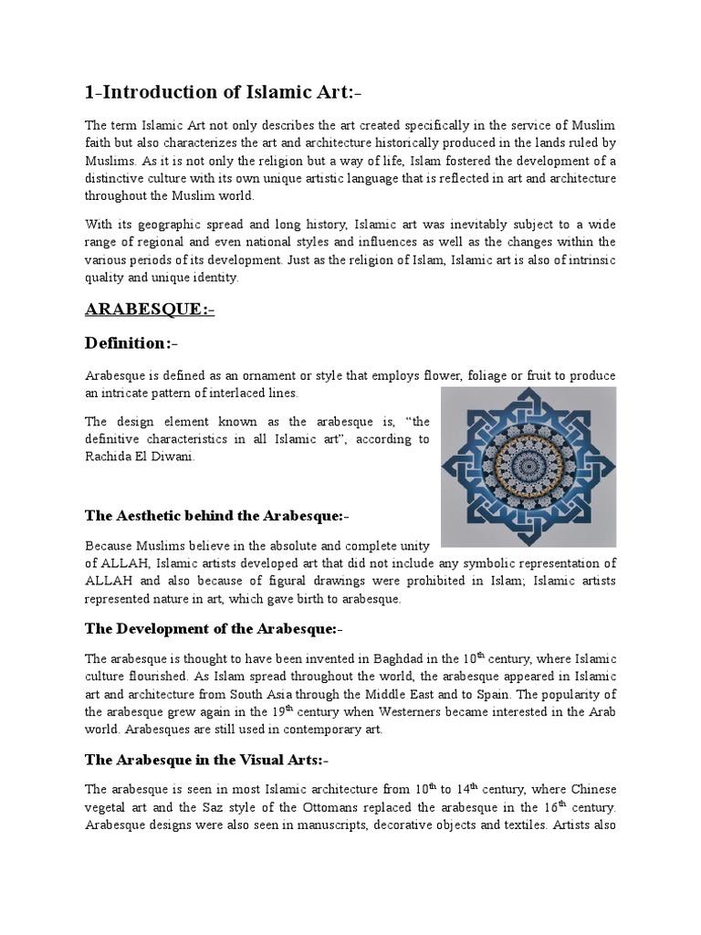 Arabesque Aesthetics Religion And Belief