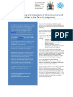 Prenatal Screening and Diagnosis