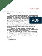 Primeras Lecturas de La Novena de l Virgen Del Carmen 2008