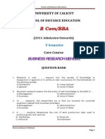 QB BCom BBA Business Research Methods