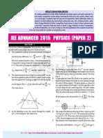 JEE-Advance Physics 2015 Paper 2