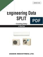 Daikin Engineering Data Split (Cooling Only) J-Series (2015)