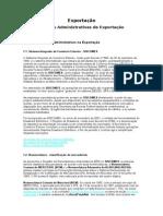 Exportação - Normas Administrativas de Exportação