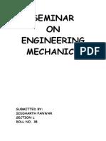A Seminar Report On Basic Mechanics