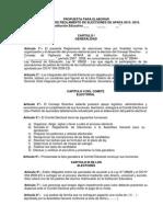 Reglamento de Elecciones Apafa - Comite Electoral 14-10-14