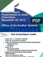 Presentation Annual Report Audit 2015