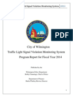 Wilmington Red Light Camera Report FY14
