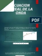 Ecuacion Lineal de La Onda