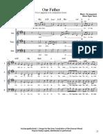 9. Our Father SATB A cappella