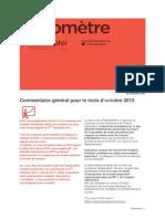 Baromètre Centre - Octobre 2015