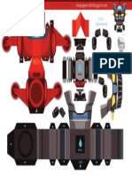 Mazinger Z MiniPapercraft by Gus Santome