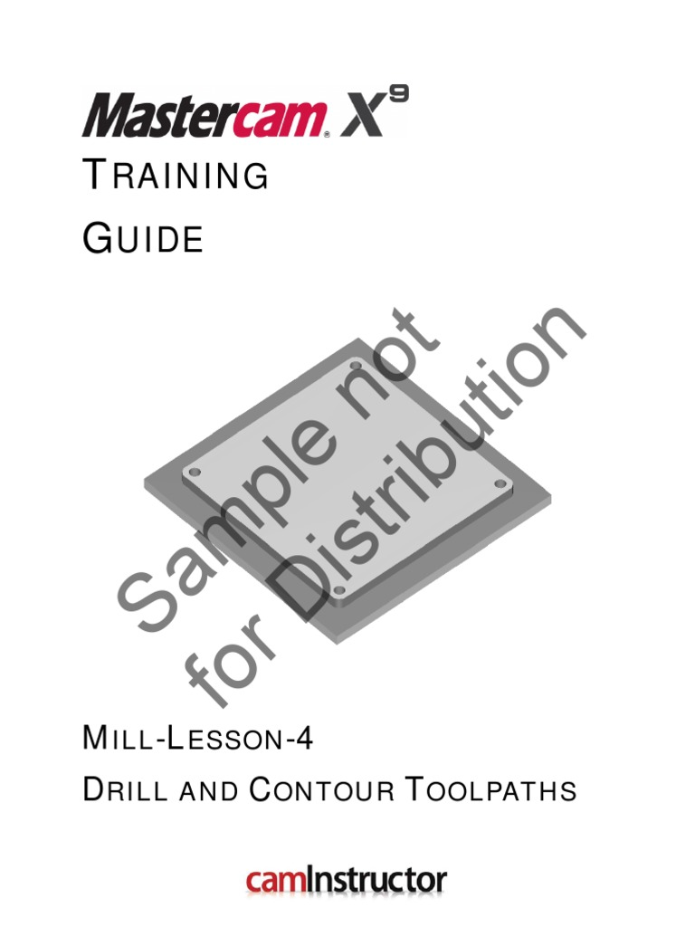 mill lesson 4 sample pdf machine tool drilling rh scribd com