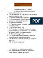 Funciones de Las Teclas F1 a La F12