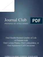 Journal club on Oral Health-Related Quality of Life