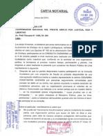 Carta Notarial de Ciudadanos de Pomalca Lambayeque Emplazando Al Frente Amplio