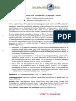 Workshop Programme Articulating The World